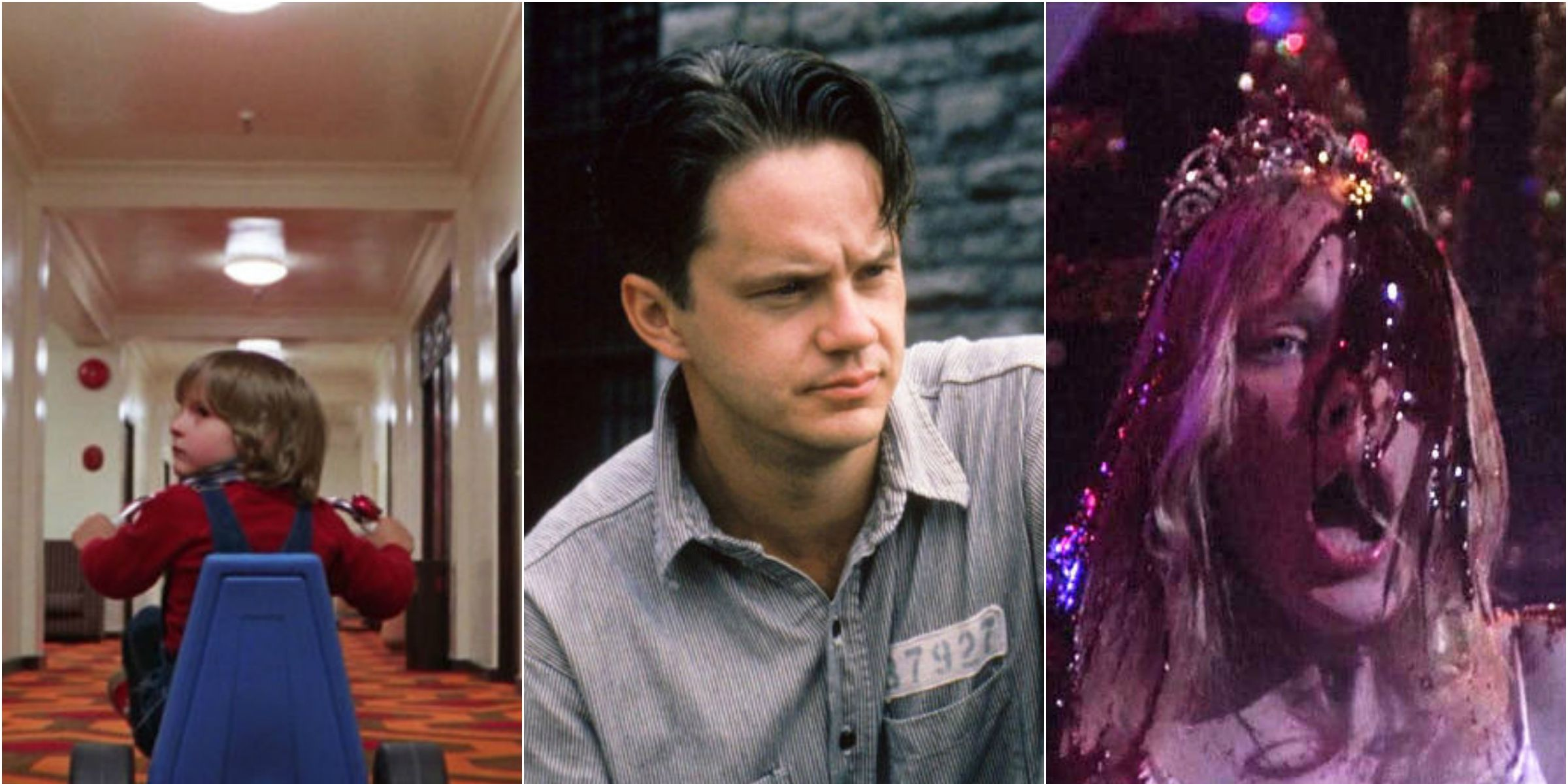 The Shining, The Shawshank Redemption, Carrie