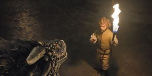 Tyrion and the dragons in Game of Thrones s06e02, 'Home'