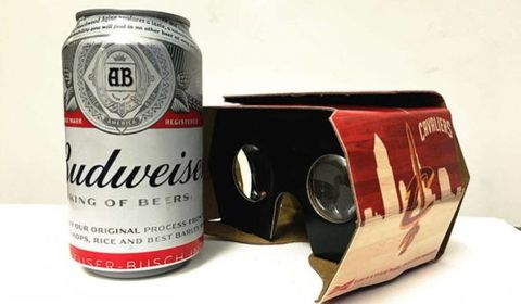 This free VR headset doubles as a beer holder
