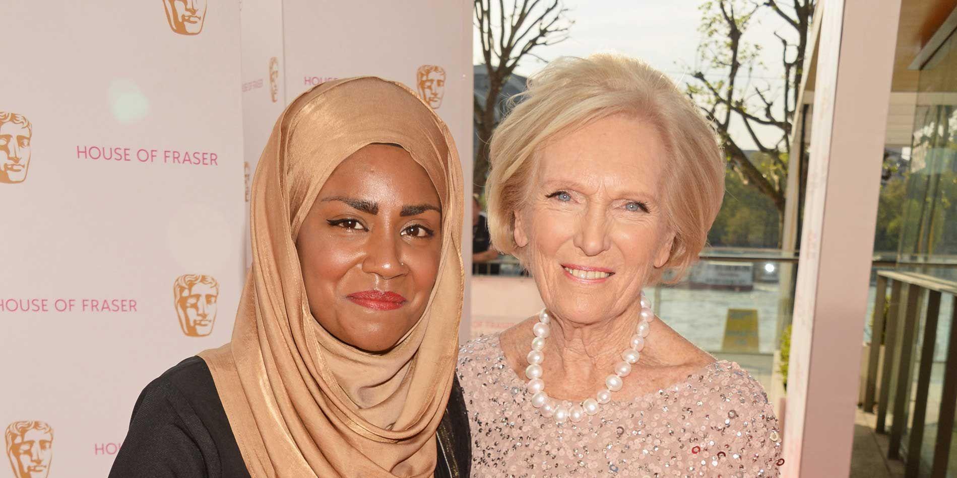 Nadiya Hussain, Mary Berry, BAFTAS