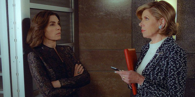 The Good Wife series finale: Julianna Margulies as Alicia Florrick and Christine Baranski as Diane Lockhart
