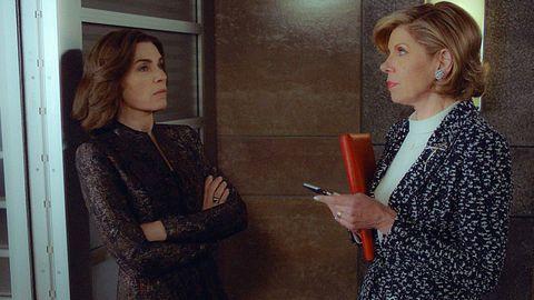 The Good Wife series finale: Julianna Margulies as Alicia Florrick and Christine Baranski as Diane Lockhart