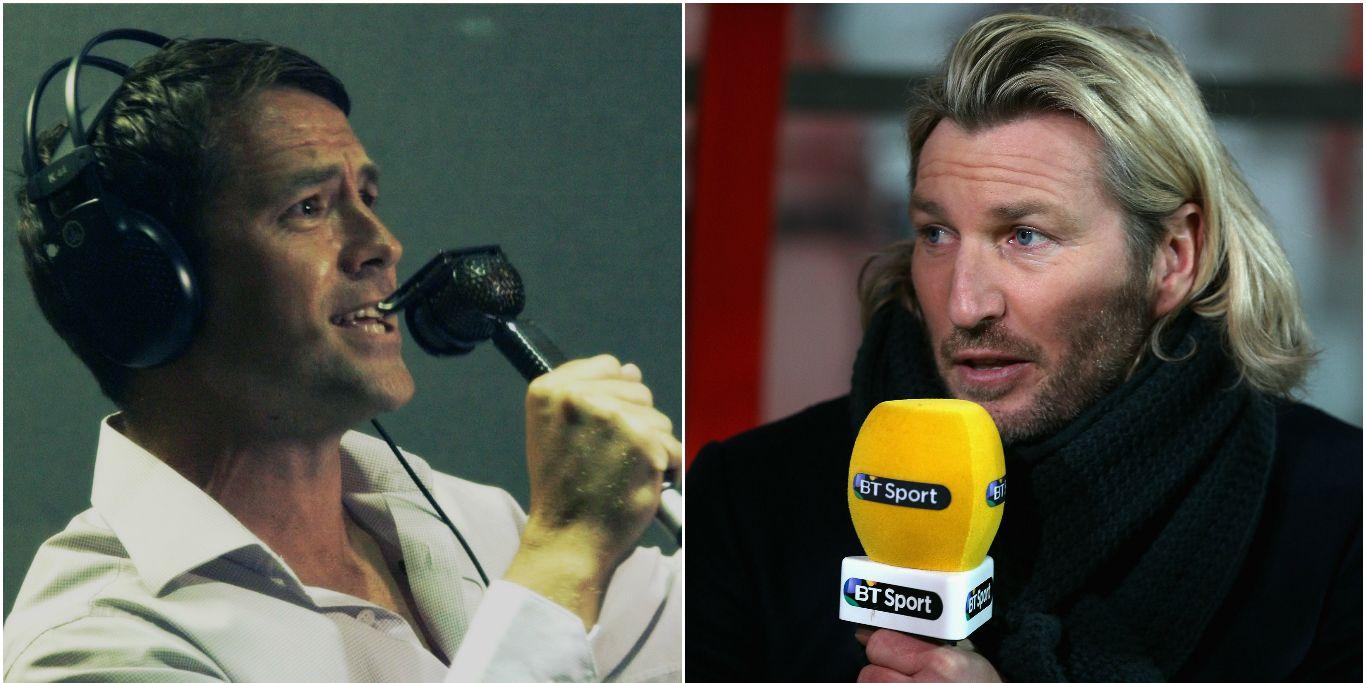 Michael Owen and Robbie Savage