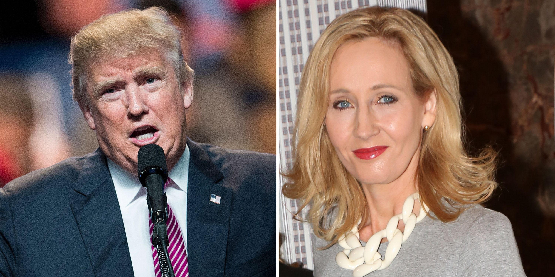 Donald Trump, JK Rowling