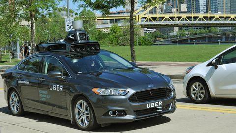 Uber self-driven car