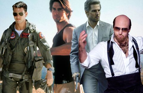Tom Cruise, Top Gun, Mission Impossible 2, Collateral, Tropic Thunder