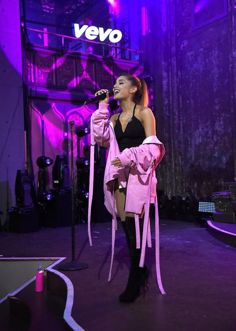Ariana Grande performs new songs at Vevo Presents show in New York City