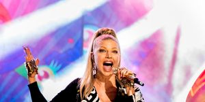 Singer Fergie peforms onstage at the 2014 American Music Awards at Nokia Theatre L.A. Live on November 23, 2014 in Los Angeles, California.