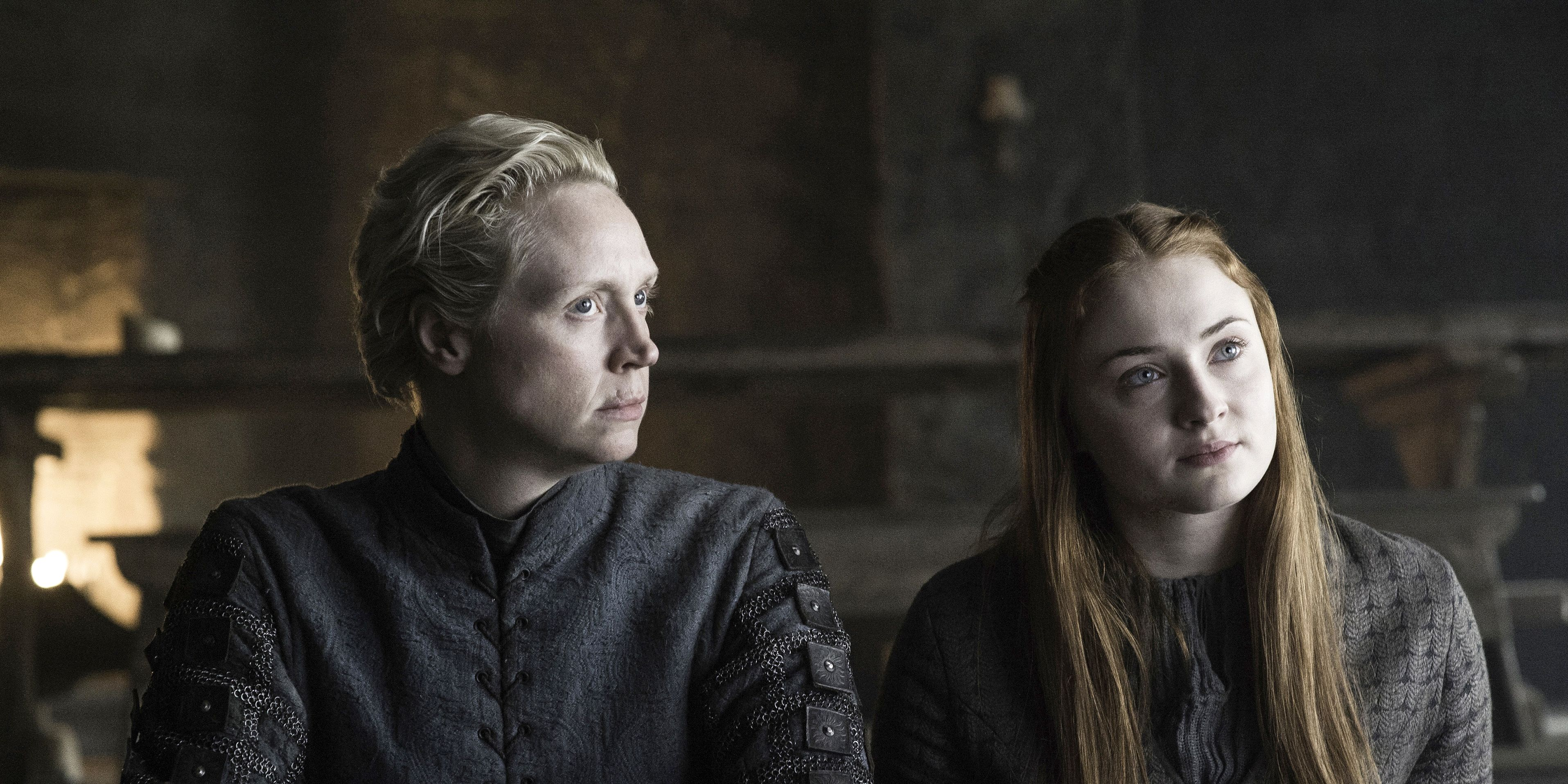 Game of Thrones season 6 episode 5 'The Door': Brienne (Gwendoline Christie) and Sansa (Sophie Turner)