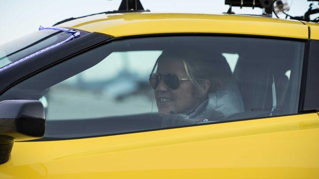 sabine schmitz, bbc top gear in the corvette z06 supercharged