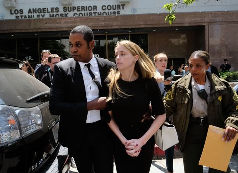 Amber Heard leaves Los Angeles Superior Court court on Friday, May 27, 2016