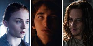 Sophie Turner as Stark, Isaac Hempstead Wright as Bran Stark and Tom Wlaschiha as Jaqen H'Ghar