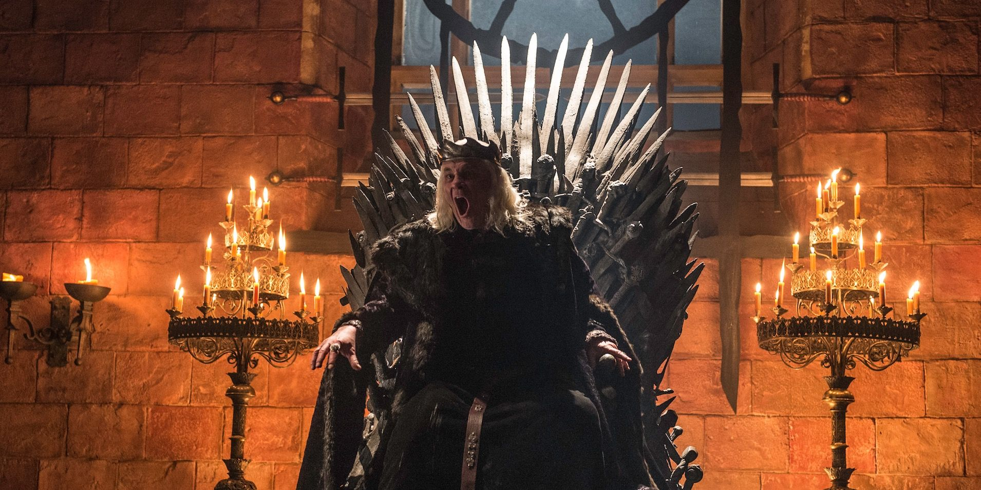Aerys Targaryen, the Mad King, in Game of Thrones s06e06