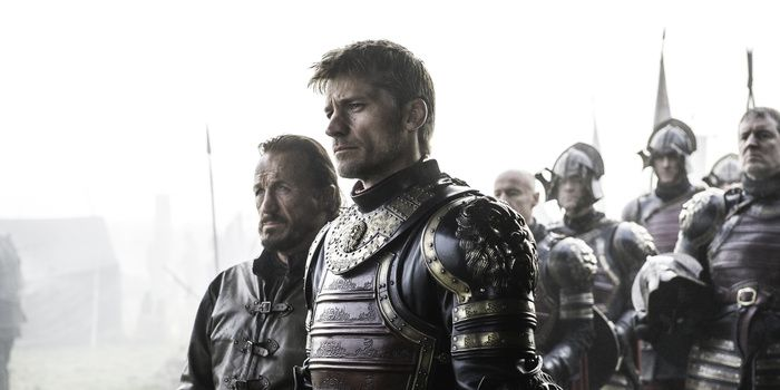 Game of Thrones season 6 episode 7 'The Broken Man' - Jerome Flynn as Bronn and Nikolaj Coster-Waldau as Jaime Lannister