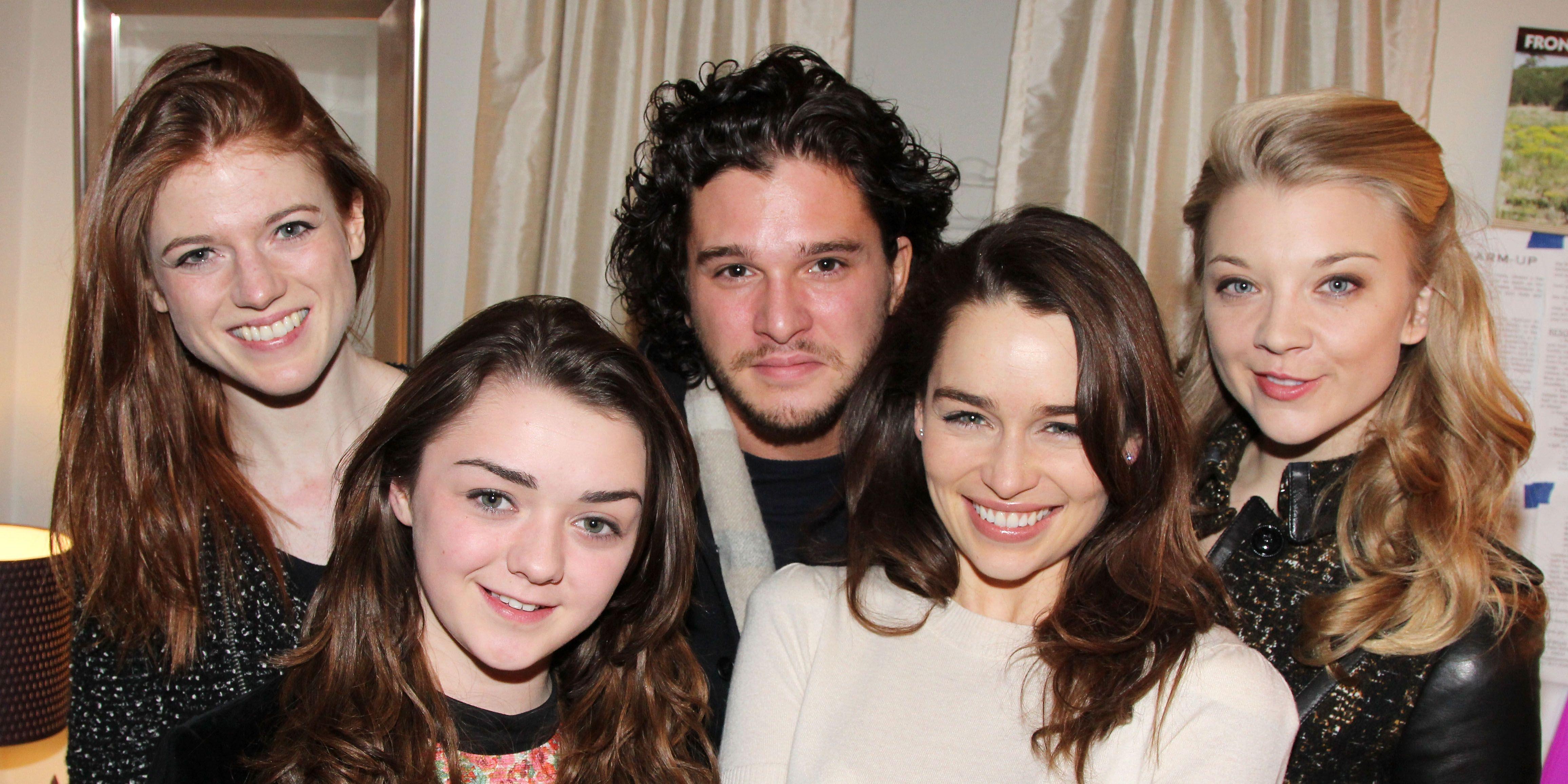 Game of Thrones cast Rose Leslie, Maisie Williams, Kit Harington, Emilia Clarke and Natalie Dormer