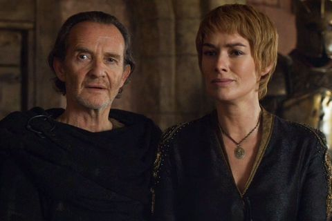Qyburn and Cersei in Game of Thrones