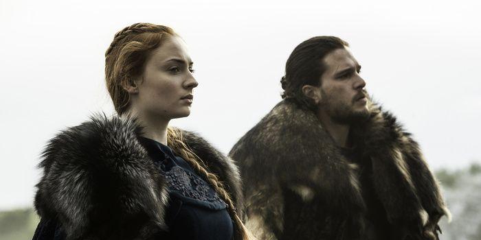 Game of Thrones s6e9: Sansa Stark and Jon Snow ride north