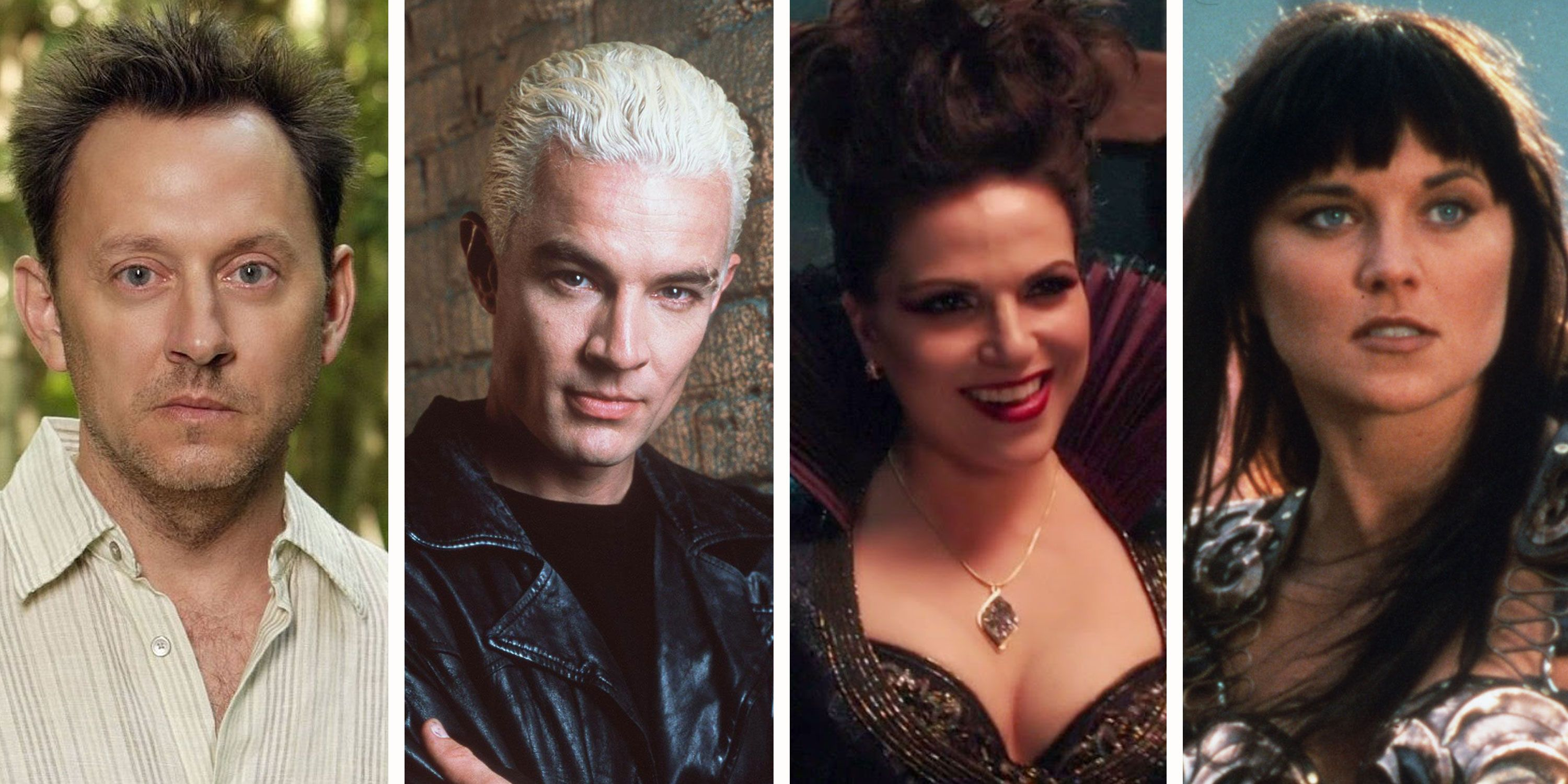 Spike from Buffy, Xena, Ben Linus from Lost and Regina from Once Upon a Time