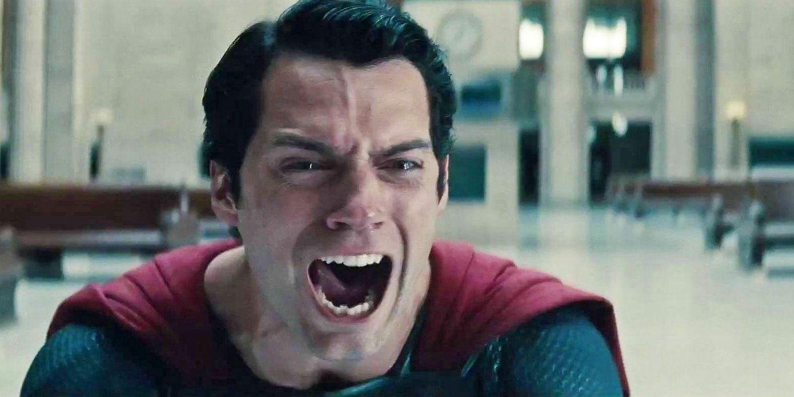 Henry Cavill Superman Man of Steel scream