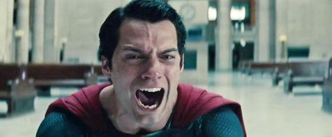 henry cavill superman man of steel scream