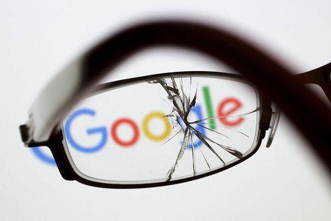 Google spying cracked lens