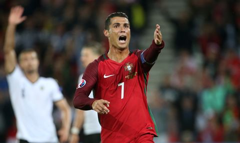 Cristiano Ronaldo looks frustrated at Euro 2016 group game between Portugal and Austria