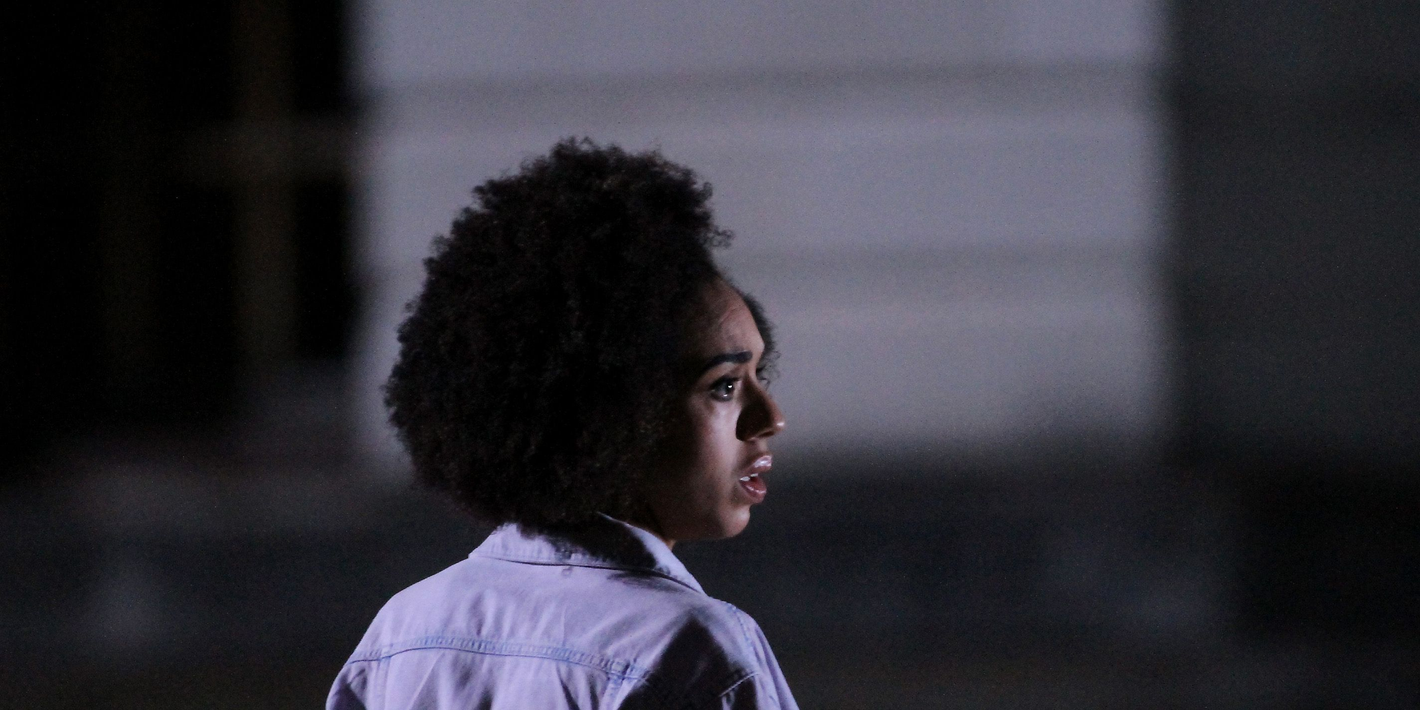 Pearl Mackie, on set Doctor Who, Cardiff, Wales