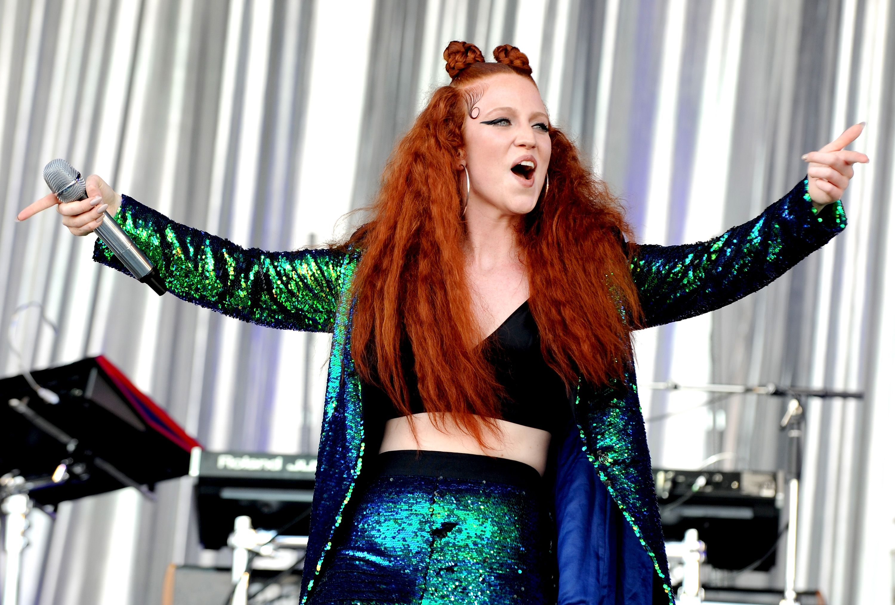 0892dcb4e22f6 Jess Glynne lights up Glastonbury for her Pyramid Stage debut after having  to cancel last year