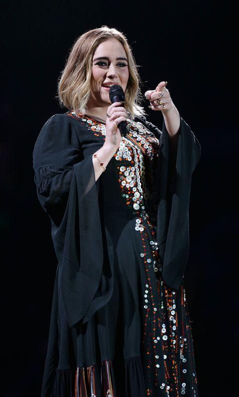 Adele during her Glastonbury headline set