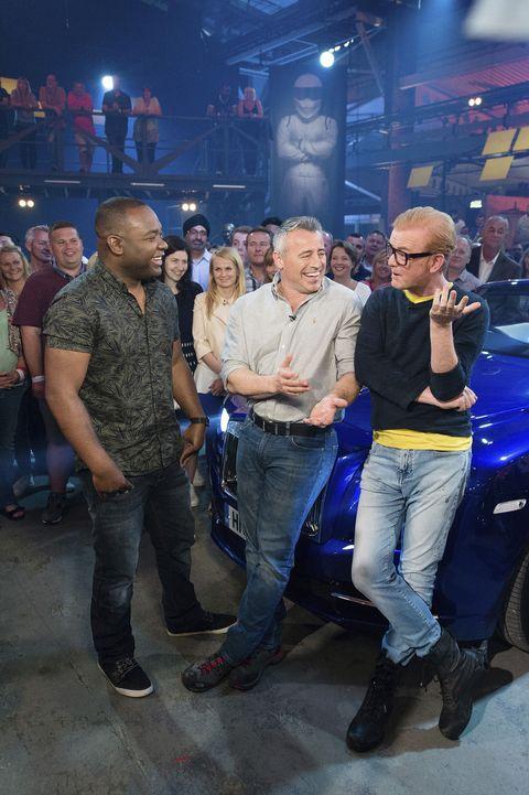 Rory Reid, Matt LeBlanc and Chris Evans on Top Gear