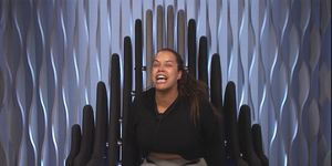 Lateysha flies off the handle in the Big Brother Diary Room