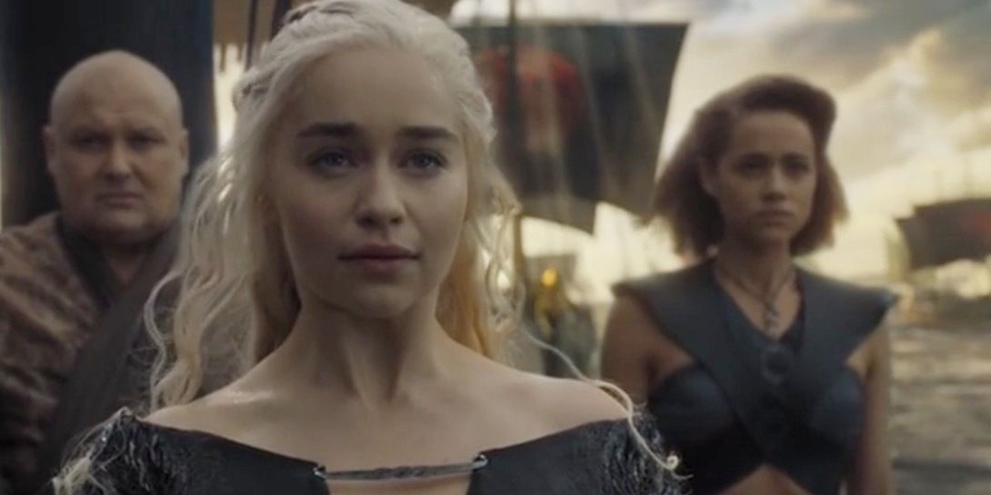 Game of Thrones: Daenerys, Varys and Missandei in 'The Winds of Winter'