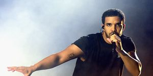 INDIO, CA - APRIL 12: Rapper Drake performs onstage during day 3 of the 2015 Coachella Valley Music & Arts Festival (Weekend 1) at the Empire Polo Club on April 12, 2015 in Indio, California.