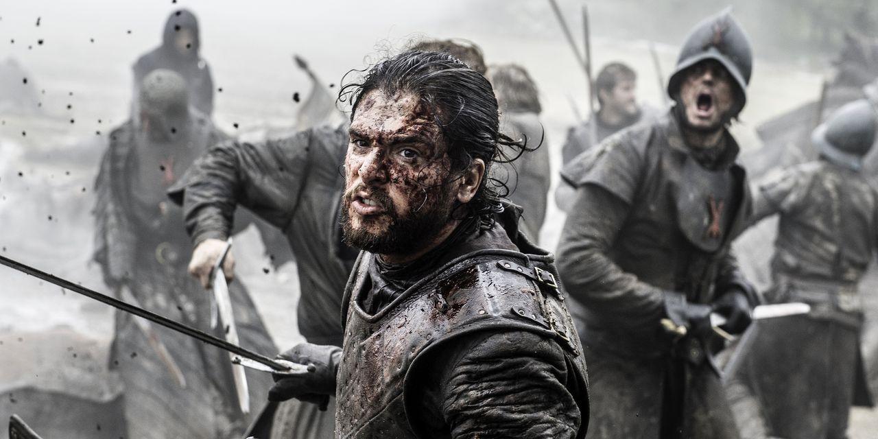 Jon Snow in Game of Thrones s06e09, 'Battle of the Bastards'