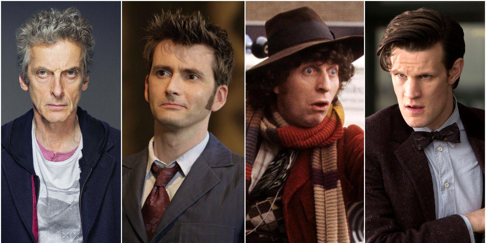 Peter Capaldi, David Tennant, Tom Baker and Matt Smith in Doctor Who
