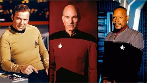 William Shatner, Patrick Stewart and Avery Brooks in Star Trek