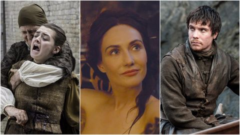 Arya, Melisandre and Gendry from Game of Thrones