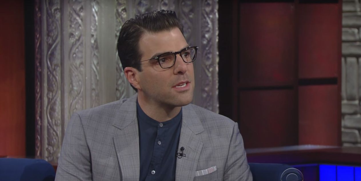 Zachary Quinto on the Tonight Show with Stephen Colbert