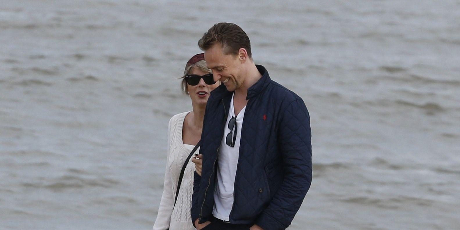 Taylor Swift, Tom Hiddleston take a stroll on the beach, Suffolk