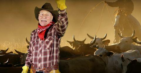 Patrick Stewart as a Cowboy