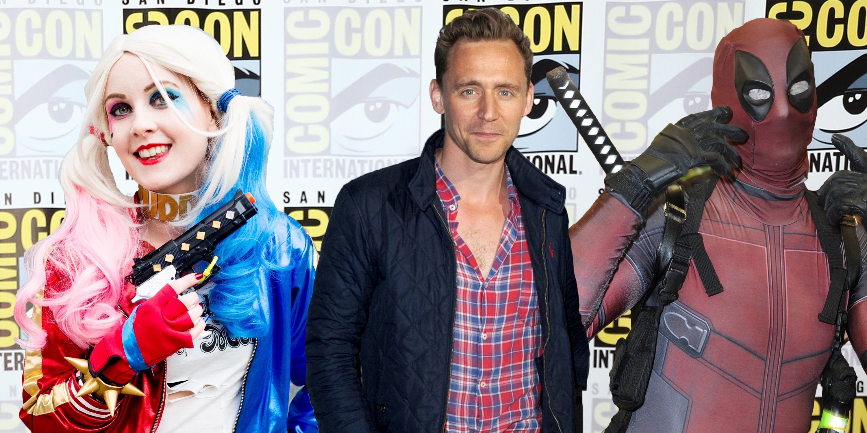 PHOTOSHOP, Comic-con International, Tom Hiddleston and cos-play costume wearers