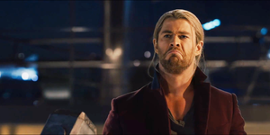 Chris Hemsworth as sad Thor in Avengers: Age of Ultron