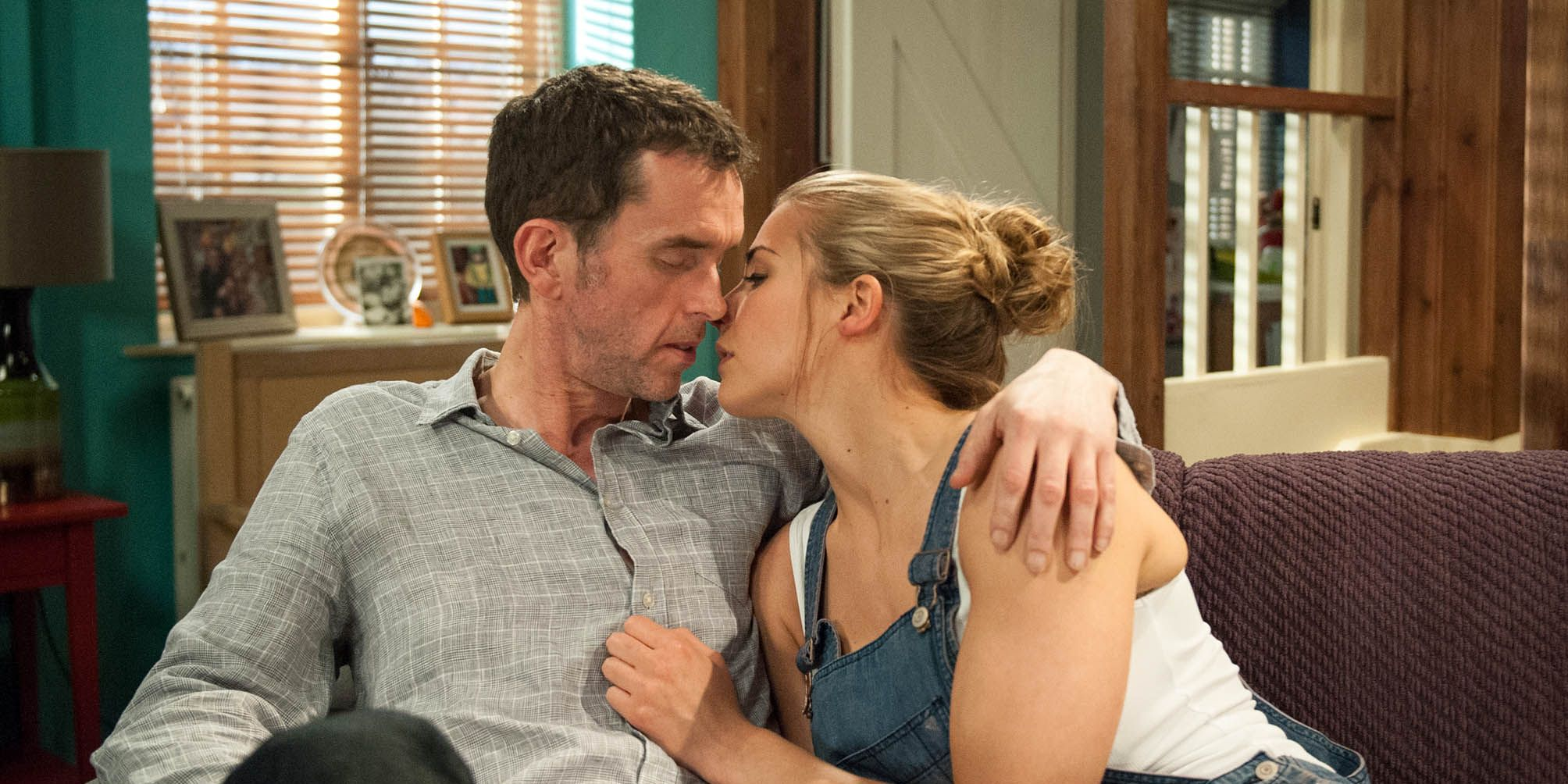 Sparks fly between Carly Hope and Marlon Dingle in Emmerdale