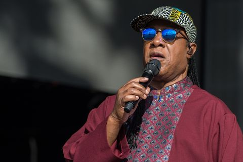 LONDON, ENGLAND - JULY 10: (EDITORIAL USE ONLY) Stevie Wonder performs as part of British Summer Time Festival at Hyde Park on July 10, 2016 in London, England.
