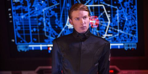 General Hux in Star Wars: The Force Awakens Domhnall Gleeson