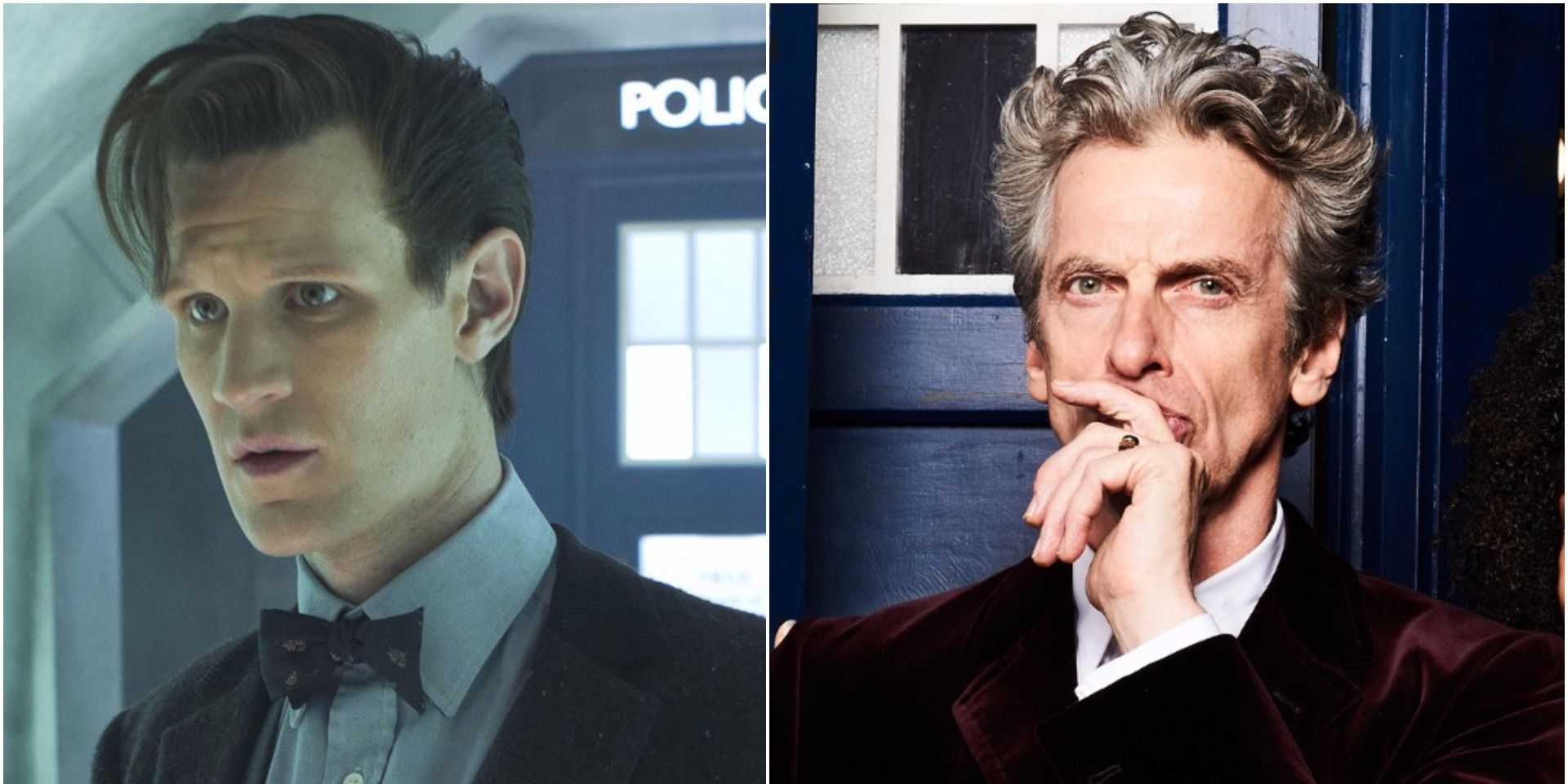 Matt Smith and Peter Capaldi in Doctor Who