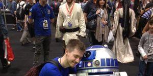 Hugh with R2-D2