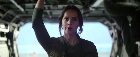 Felicity Jones as Jyn Erso in Rogue One footage