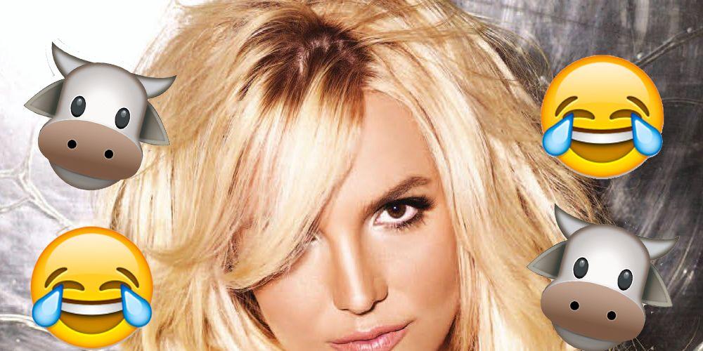 Britney Spears 'Make Me Moo' banner.