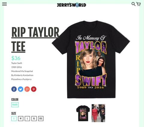 Someone S Actually Selling Rip Taylor Swift T Shirts And It S All A Bit Gross